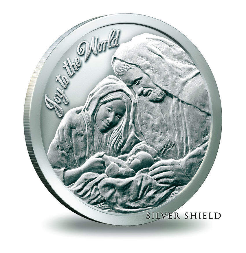 Christmas Nativity Silver Oz 999 Fine Bullion Round Ebay