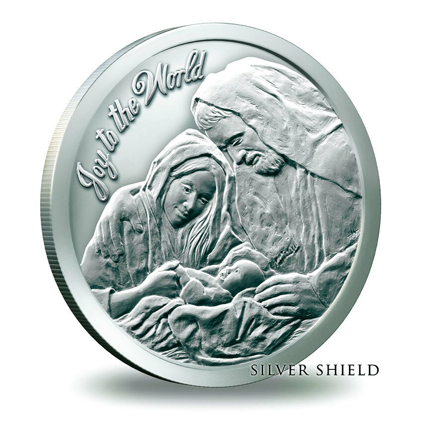 2014 Christmas Nativity Silver Shield Oz 999 Fine Bullion