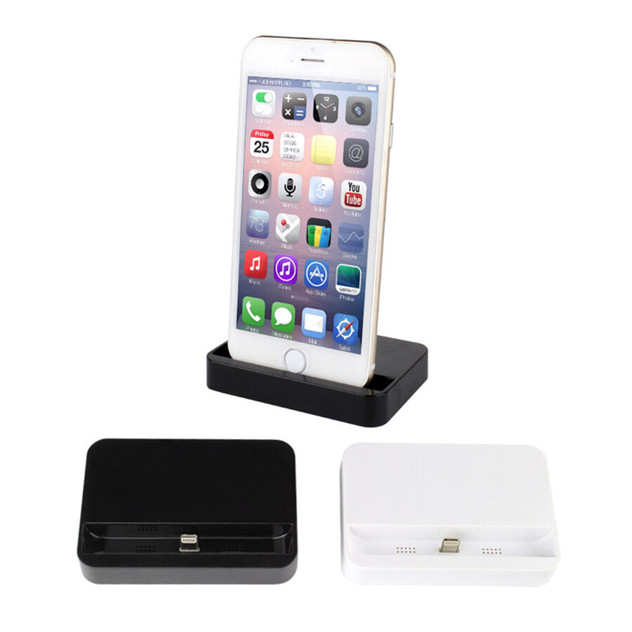 newc docking station charger cradle charging sync dock for iphone 6 6 plus 5 5s ebay. Black Bedroom Furniture Sets. Home Design Ideas