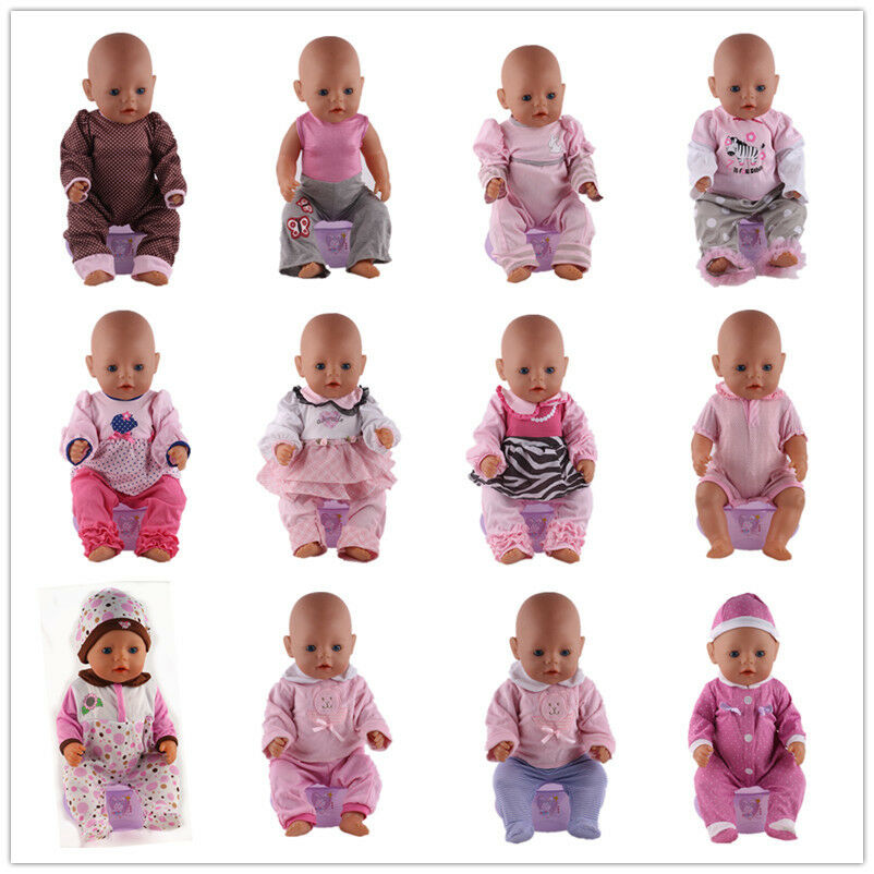 Mix 10sets Doll Clothes Wearfor 43cm Baby Born zapf only
