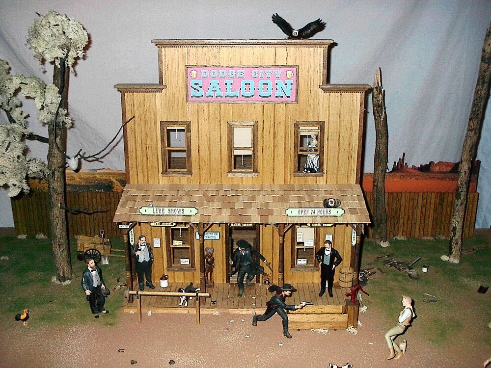 TOMBSTONE DODGE CITY DEADWOOD OLD WEST SALOON 1/12 SCALE ...