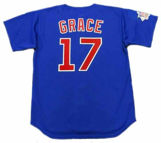 c8e6f80ff MARK GRACE Chicago Cubs 1998 Majestic Throwback Alternate Baseball Jersey