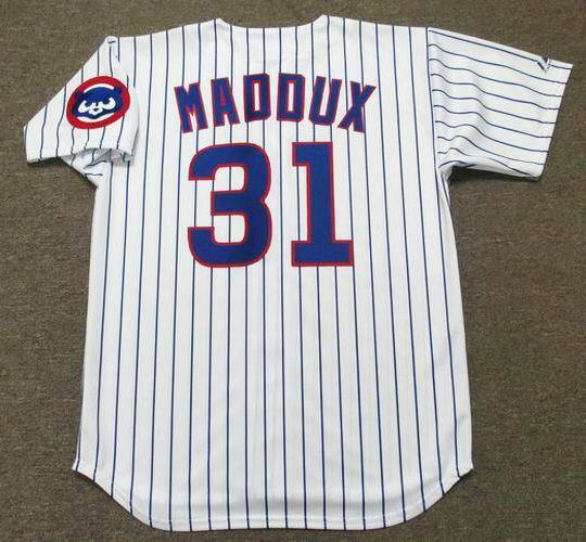 a83ae7c40 GREG MADDUX Chicago Cubs 1992 Majestic Throwback Home Baseball Jersey