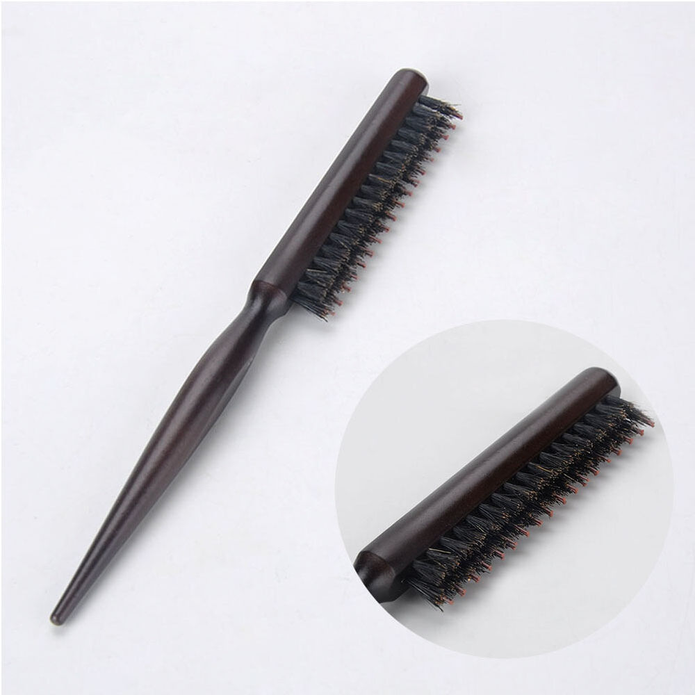 Natural Boar Bristle Hair Brush Fluffy Comb Hairdressing ...