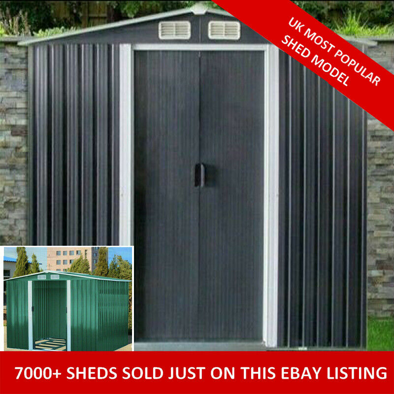 Forward order new metal garden shed 6 x 4 8 x 4 8 x 6 for Garden shed tab