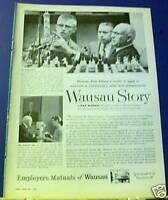 1958 Wausau Ins Ad McGraw-Edison chemistry experiment