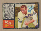 Gail Cogdill signed 1962 Topps card# 53(DEC)-Detroit Lions