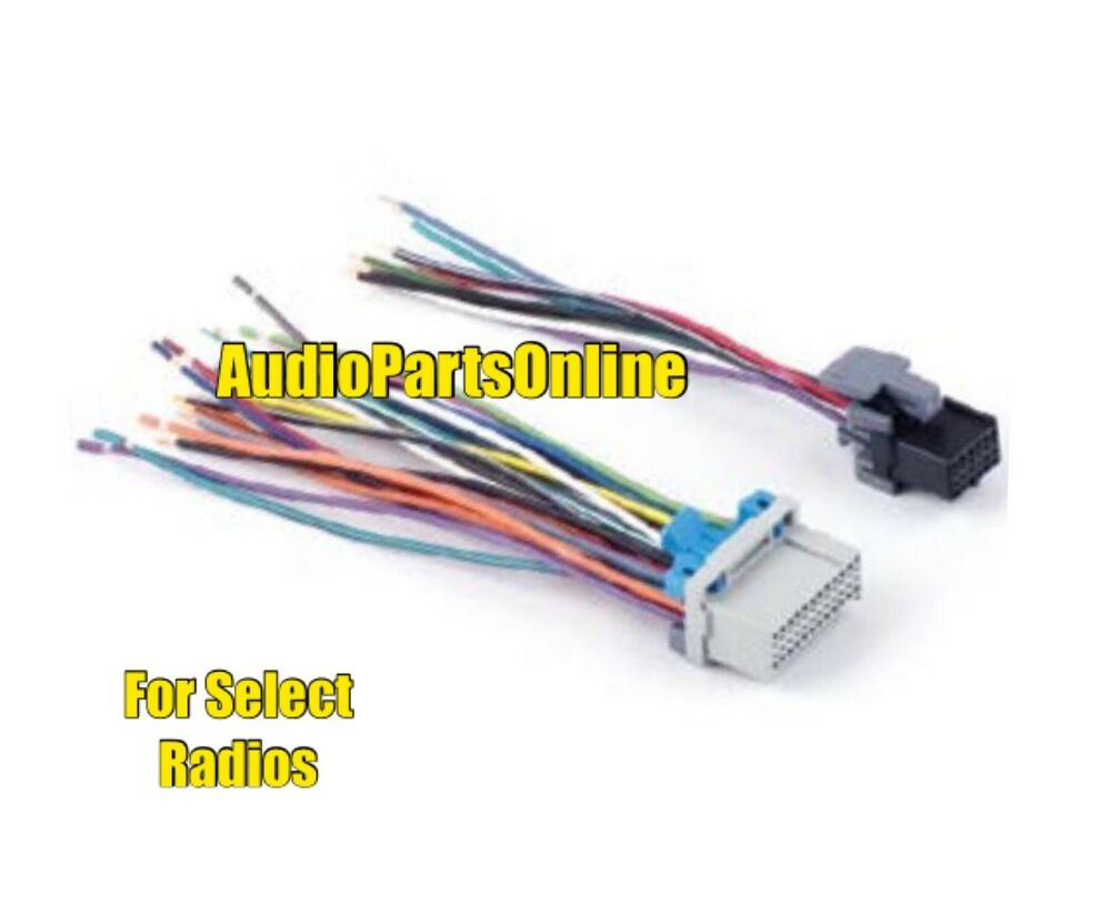 stereo wire harness radio side gm plugs into gm oem factory radio connector ebay