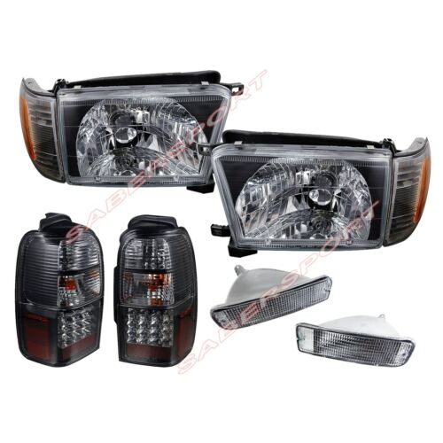 black-headlights-clear-bumper-led-taillights-combo-for-9698-toyota-4runner
