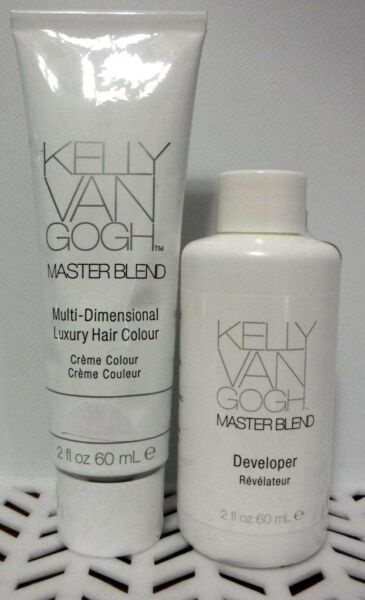 2 PC Combo Kelly Van Gogh MASTERBLEND Hair Color 1 - 3RV & 1 - DEVELOPER