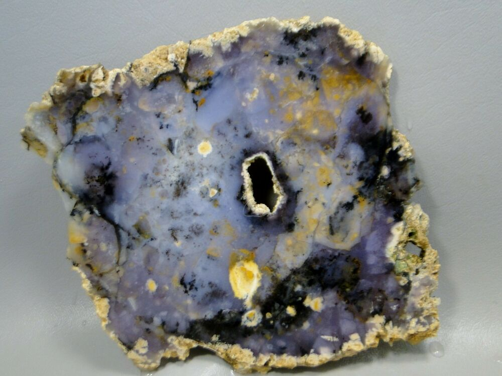 Amethyst Sage Agate Slab Lapidary Stone Purple Rough Rock