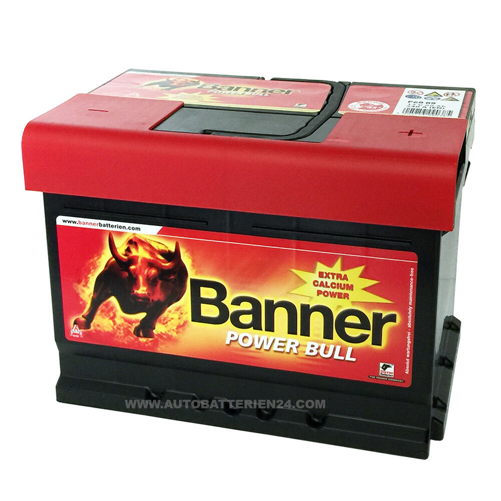banner power bull 12v 62ah p6219 540a en autobatterie batterie 60ah 55ah 63ah ebay. Black Bedroom Furniture Sets. Home Design Ideas