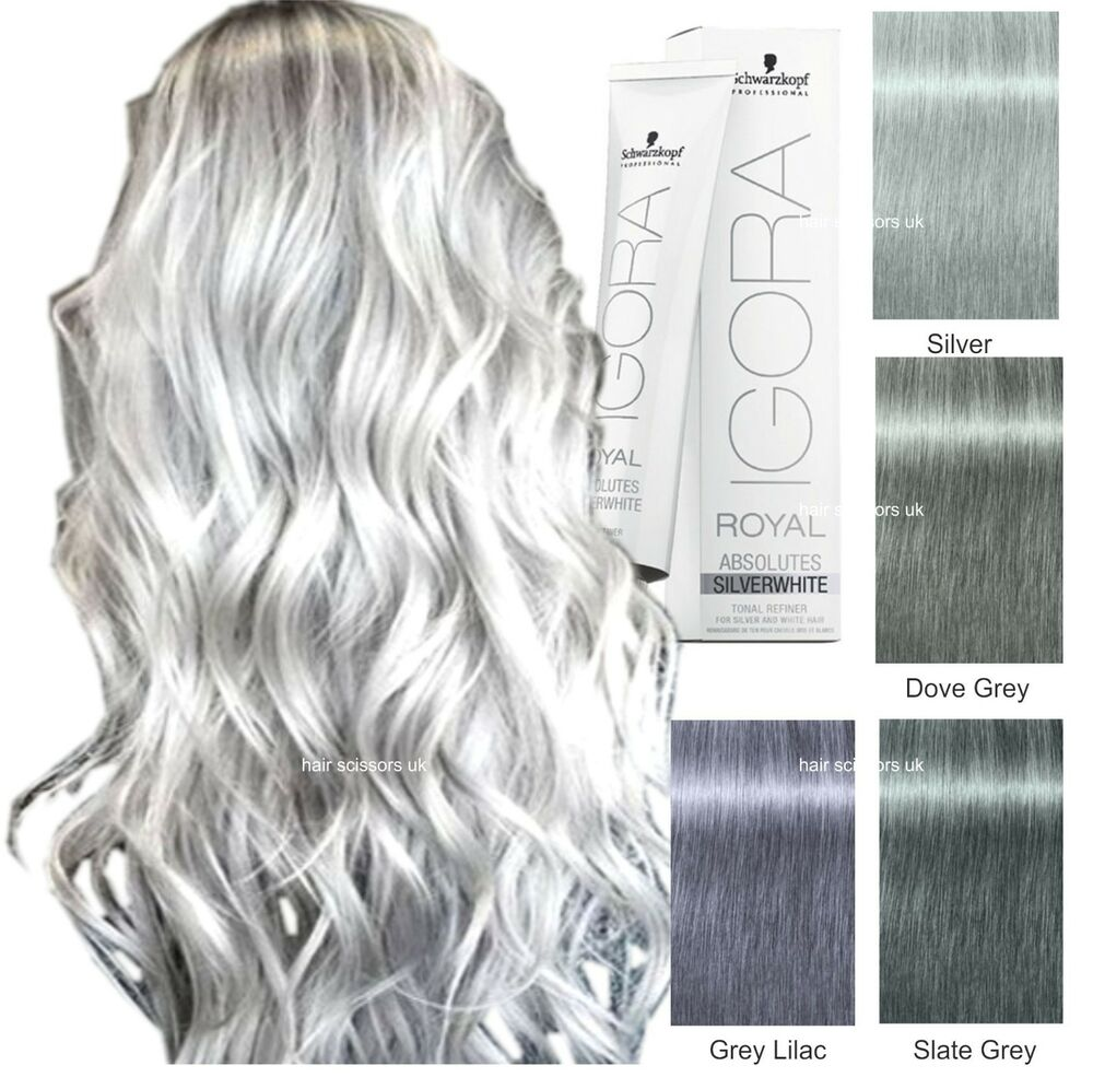 Schwarzkopf igora royal grey lilac dove grey silver for Color gray or grey