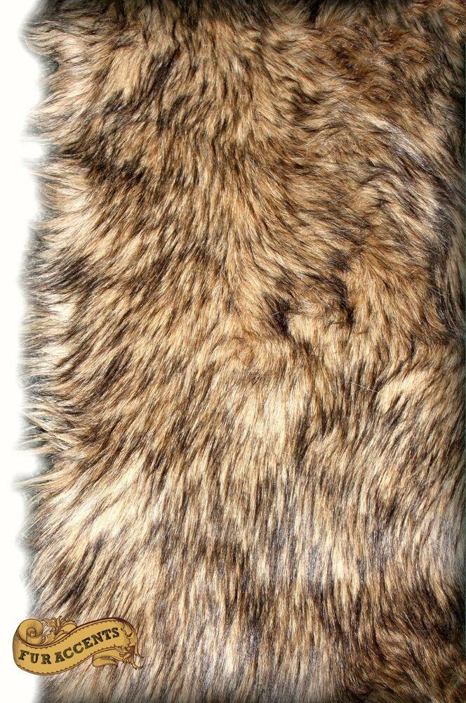 Shag Animal Fur Rug Faux Fur Coyote Pelt Area Rug