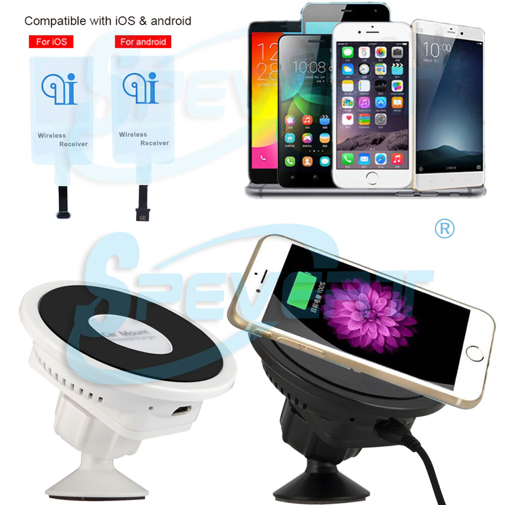 qi wireless car charger dock charging receiver pad for. Black Bedroom Furniture Sets. Home Design Ideas