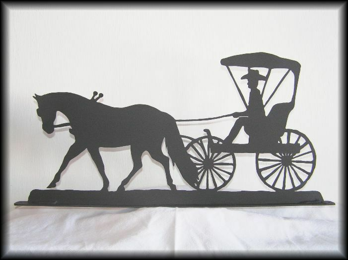 Horse And Buggy Vector Drawing by Roger Witmer |Metal Horse And Buggy Silhouette