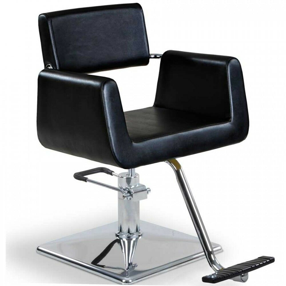 """Hepburn"" Black Styling Chair with Square Base T Bar"