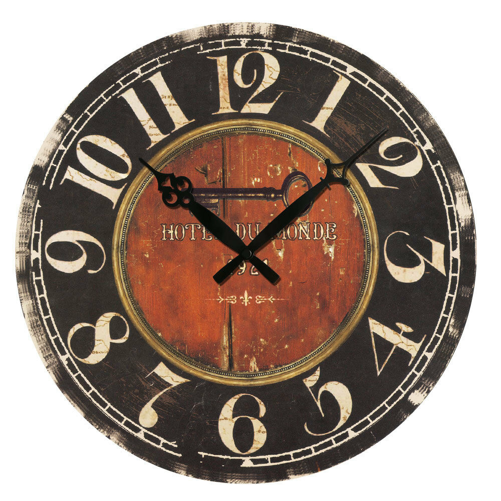 Retro Antique Wooden Vintage Style Wall Clocks Shabby