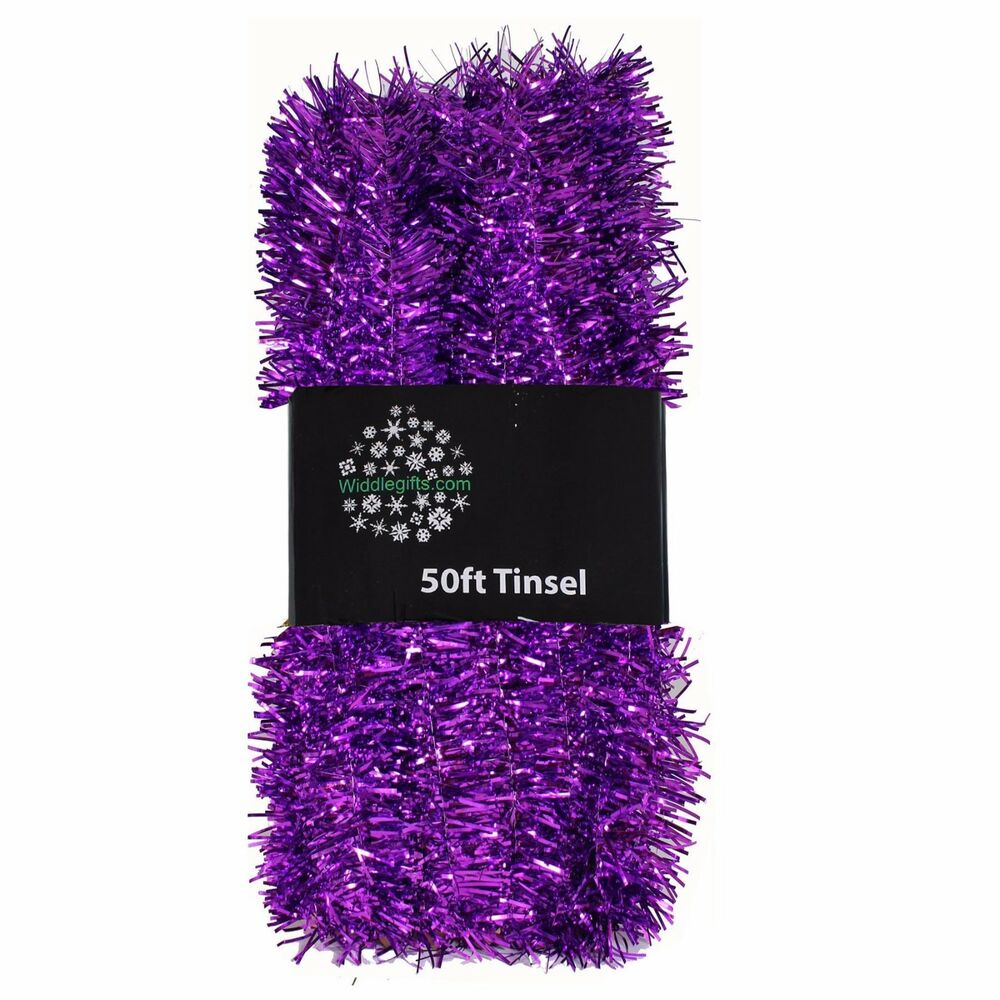 Christmas Tree Decoration 50ft X 3cm Tinsel Great Value