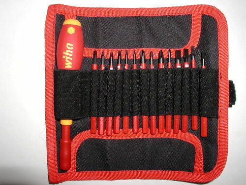 wiha slimline insulated screwdriver set with pouch 28390 ebay. Black Bedroom Furniture Sets. Home Design Ideas