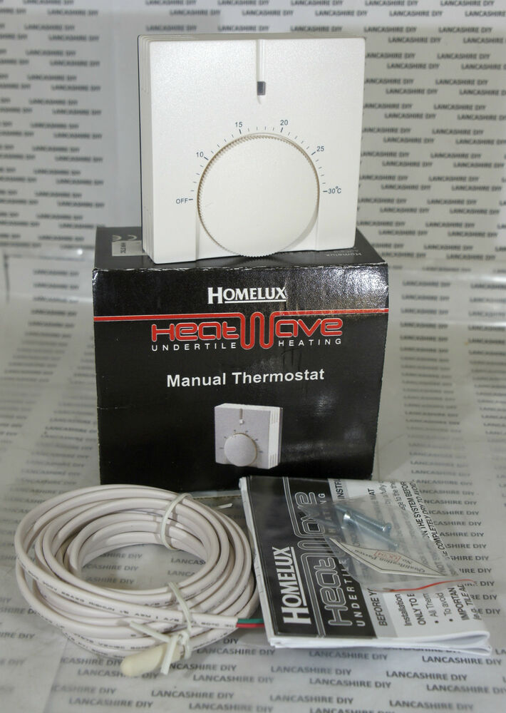 homelux heatwave undertile heating manual thermostat hhw stsc rh ebay co uk Hot Water Radiant Heating System Hot Water Radiant Heating System