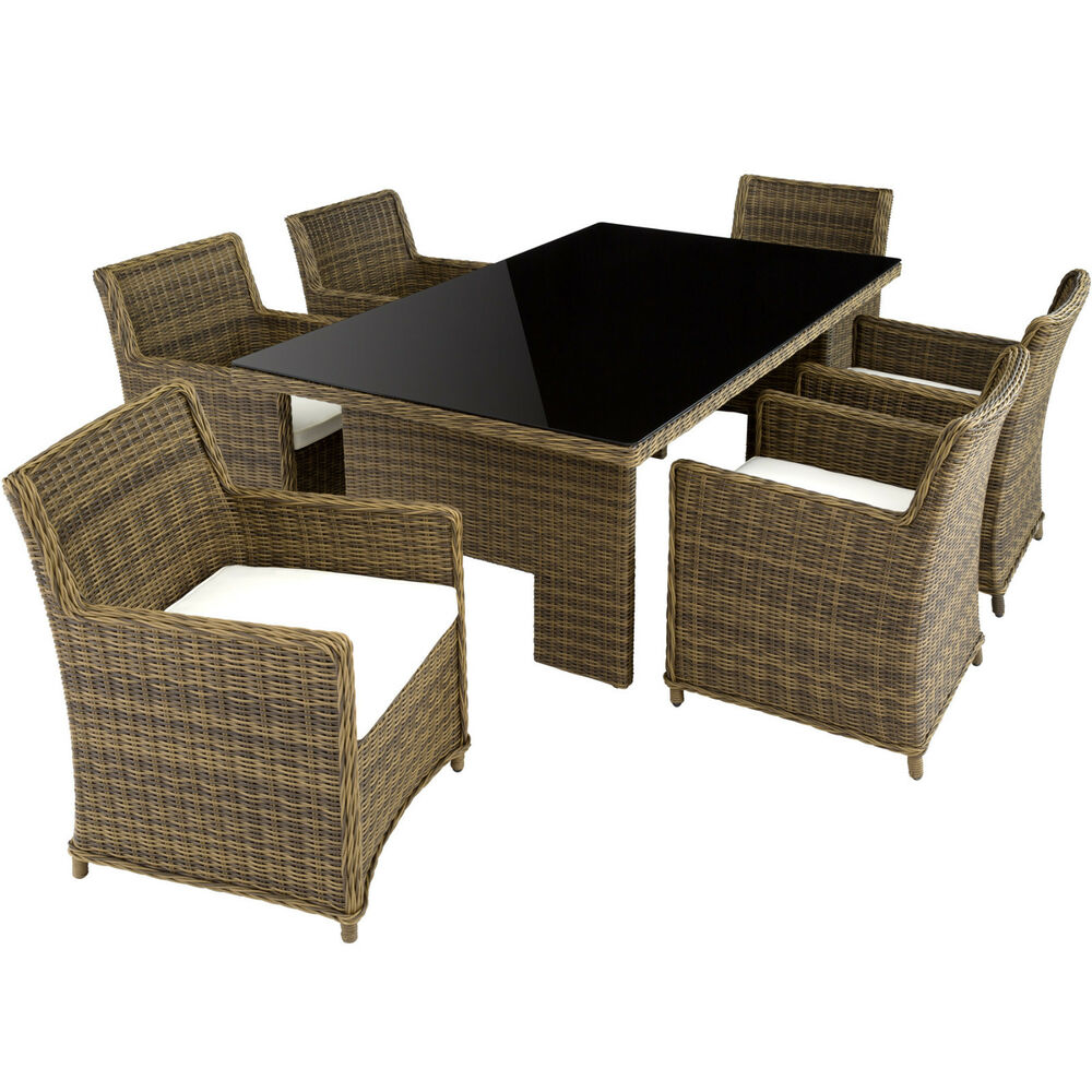 luxus alu poly rattan essgruppe xxl sitzgruppe gartengarnitur gartenm bel tisch ebay. Black Bedroom Furniture Sets. Home Design Ideas