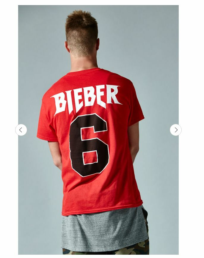 ce07dc87 Details about Justin Bieber Purpose World Tour All Access x PacSun Tee T- Shirt Red #6
