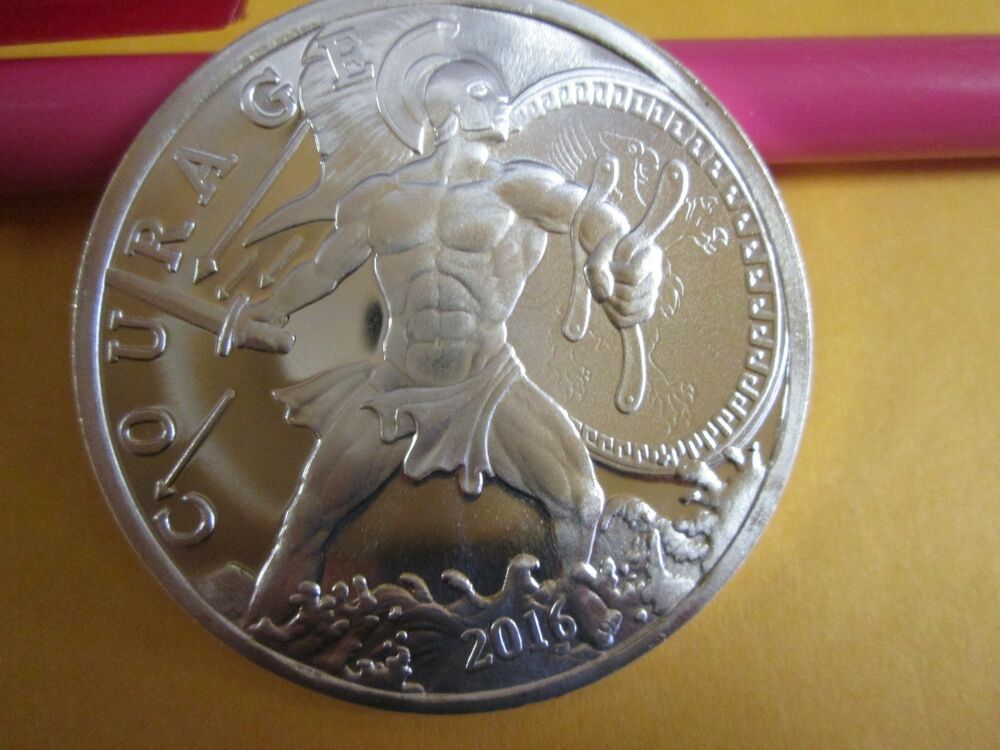 1 Troy Oz 999 Fine 2016 Ajax Greek Hero Modern Ancients