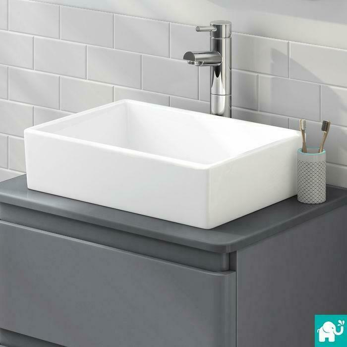 sink basins bathroom modern rectangle bathroom counter top gloss white basin 14415
