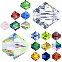 4mm 6mm 8mm Czech Crystal Clear Bicone Jewelry Diy Glass Spacer Beads