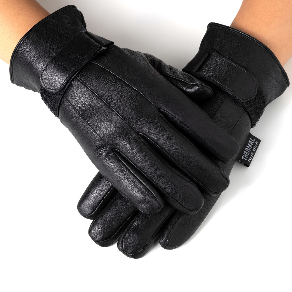 Nike Velcro Gloves: Alpine Swiss Men's Gloves Dressy Genuine Leather Warm