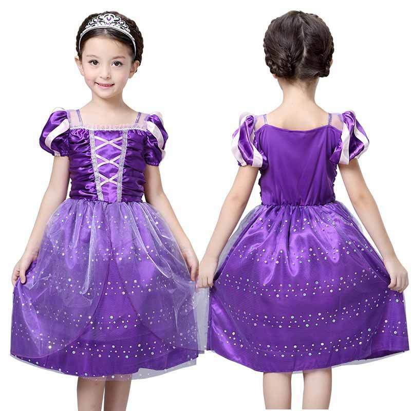 langes haar prinzessin rapunzel m dchen kleid kind k nigin. Black Bedroom Furniture Sets. Home Design Ideas