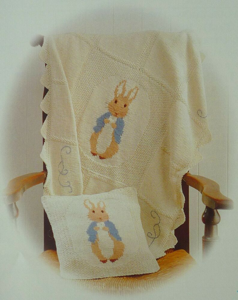 Knitting Pattern For Peter Rabbit Jumper : BEATRIX POTTER PETER RABBIT KNITTING PATTERN COT COVER eBay