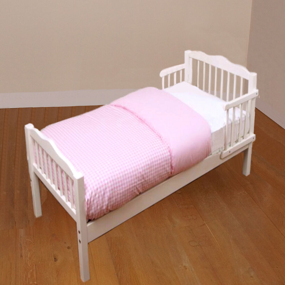 New 4baby White Sara Junior Toddler Bed With Foam Mattress Ebay