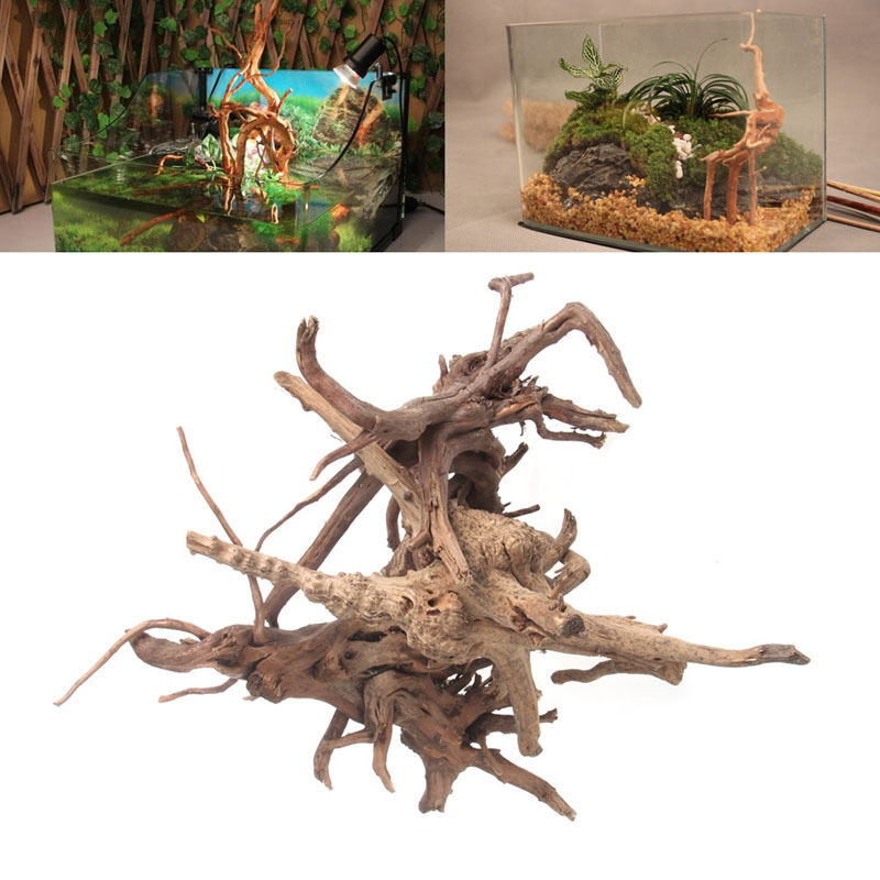 Wood natural trunk driftwood tree aquarium fish tank plant for Fish tank driftwood