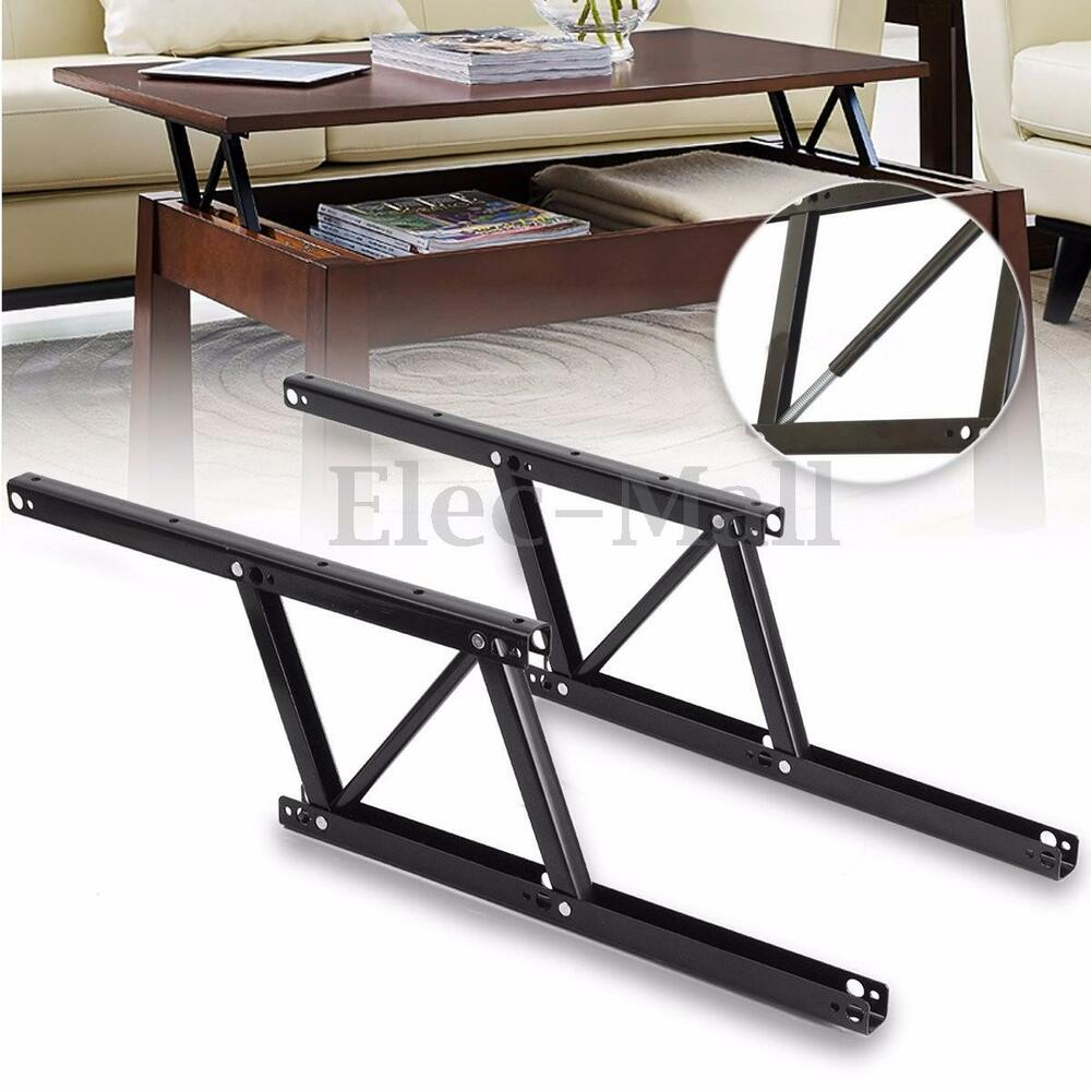 1 Pair Lift Up Top Coffee Table Lifting Frame Mechanism