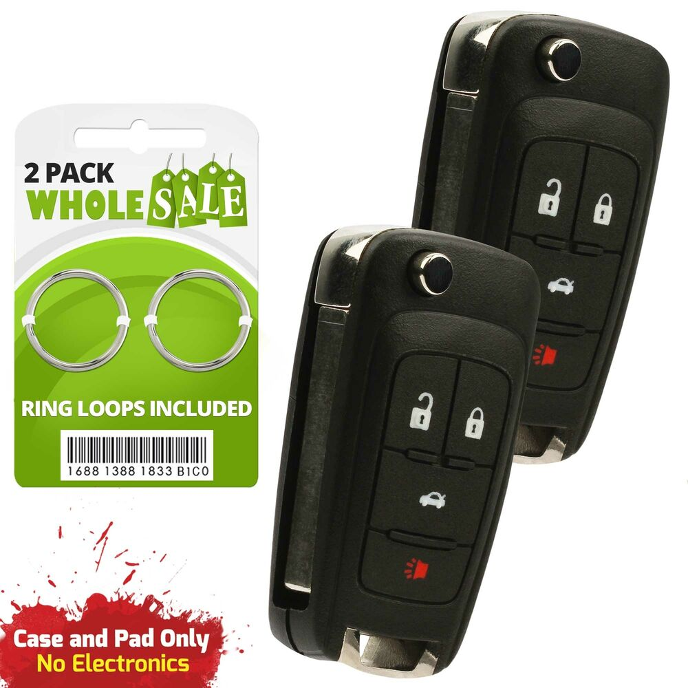 2 replacement for 2010 2011 2012 2013 chevrolet equinox key fob ebay. Black Bedroom Furniture Sets. Home Design Ideas