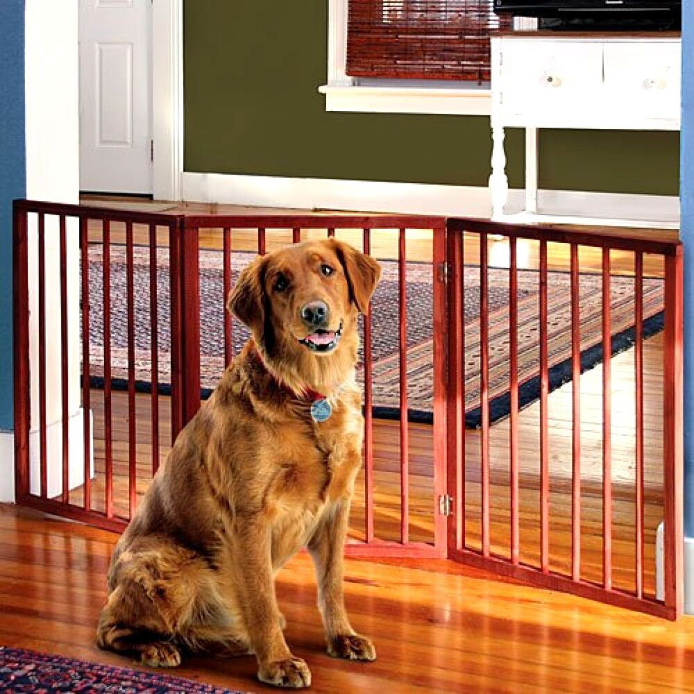 Adjustable Extra Wide Pet Gate 54 Freestanding Dog Gate