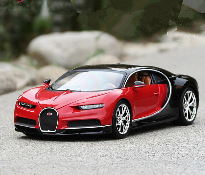 bburago 1 18 bugatti chiron diecast metal model roadster car vehicle red ebay. Black Bedroom Furniture Sets. Home Design Ideas