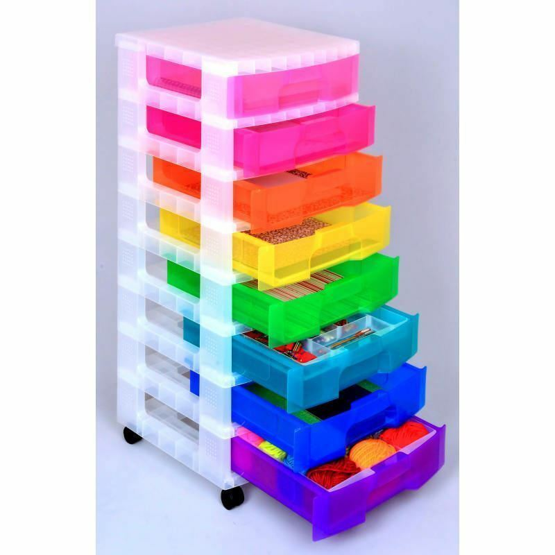 Really Useful Storage Tower 8x7 Litre Rainbow Drawers
