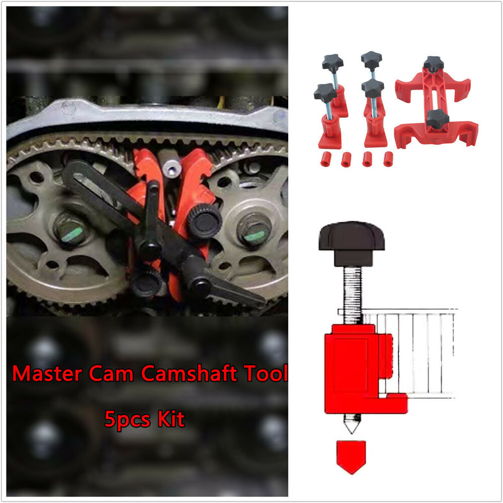 5pcs Dual Cam Camshaft Holder Tool Engine Timing Sprocket