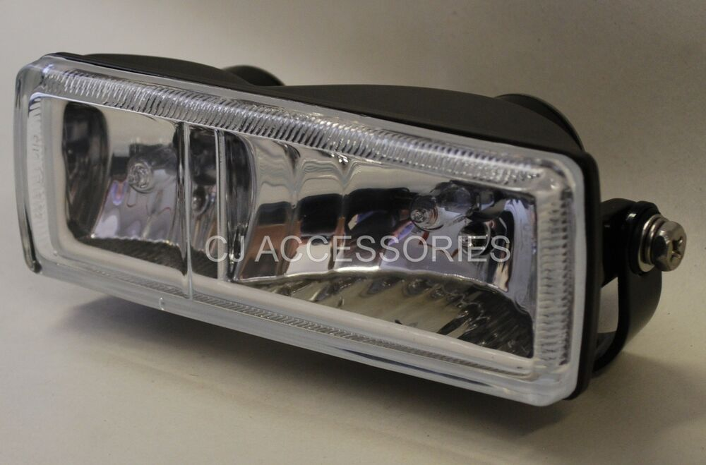 Cafe Racer Headlight Assembly : Universal custom twin black square motorcycle headlight