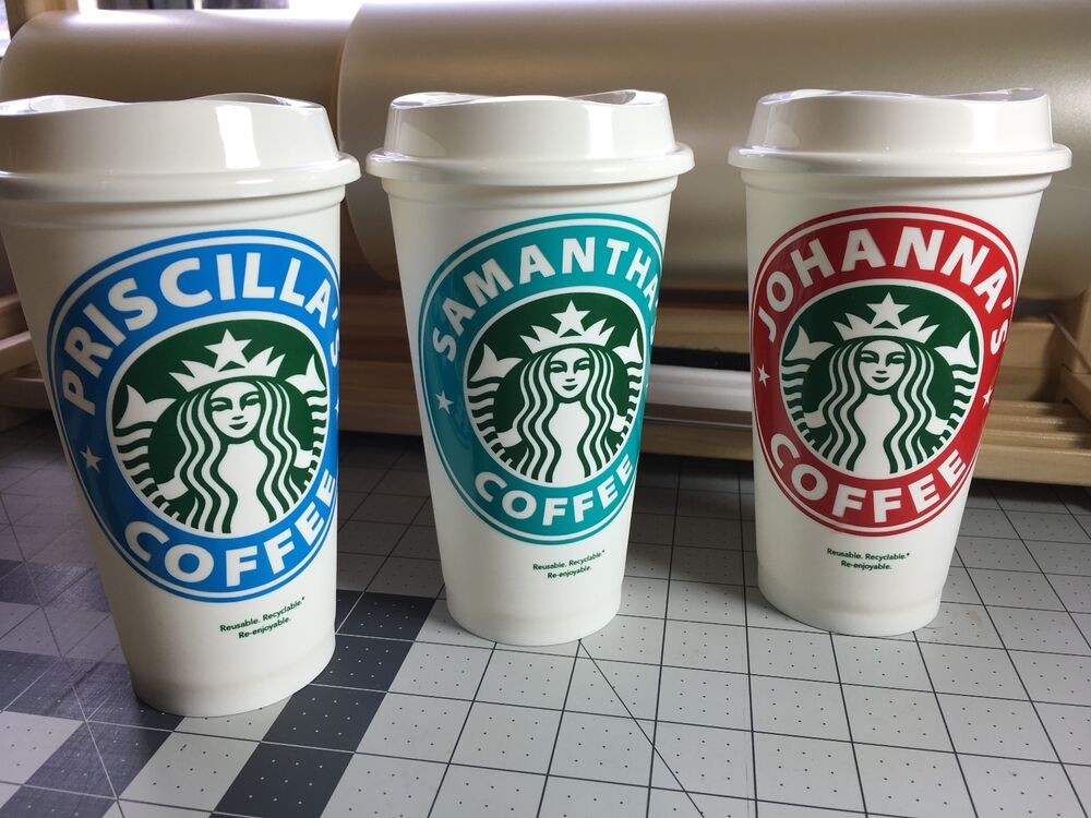 Starbucks Reusable Coffee Cup mug with monogram ...