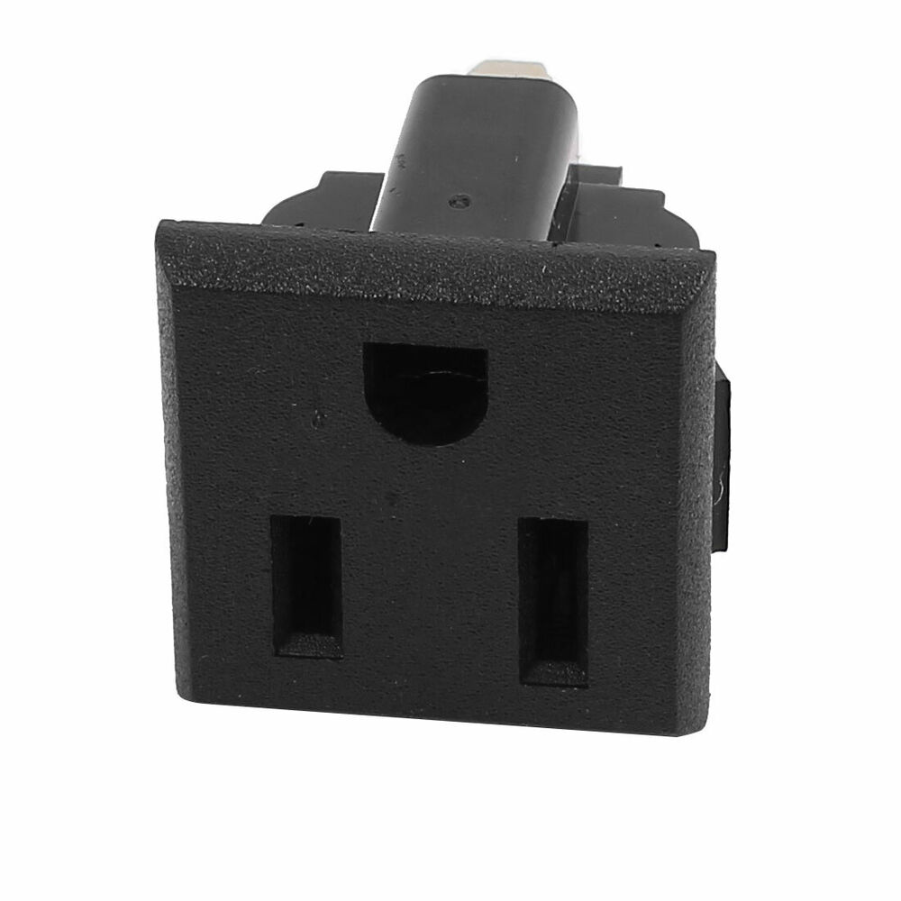 Ac 125v 15a Us Plug 3 Terminal Outlet Power Socket Connector Black Panel Mount 709874546040 Ebay