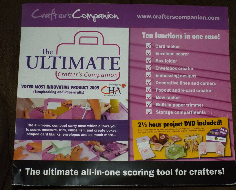 Scrapbook paper carrying case - The Ultimate Crafters Companion Envelopes Card Amp Bow Maker Free Shippng Ebay