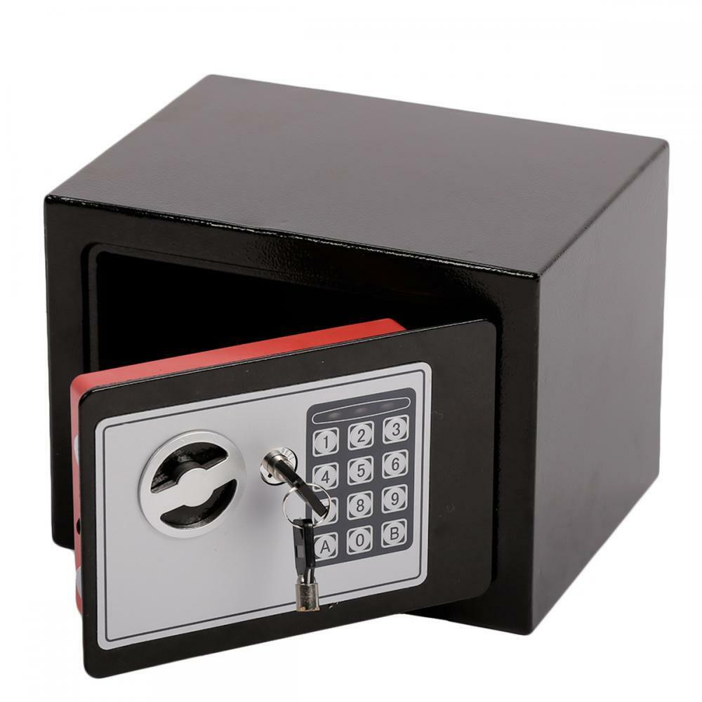 Small digital electronic gun safe box keypad lock security for Small safe box for home