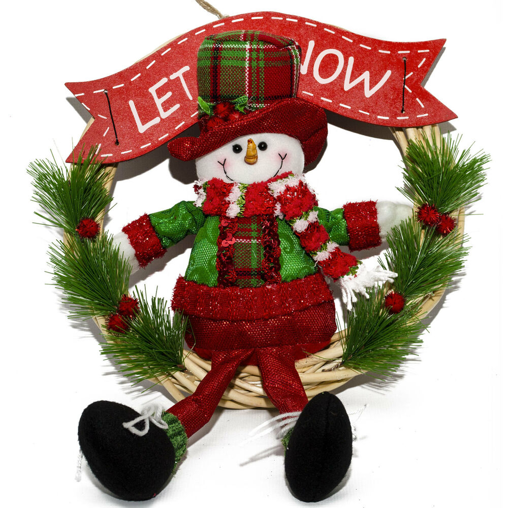 20 christmas party let it snow snowman wreath door hanger for 3 wreath door decoration