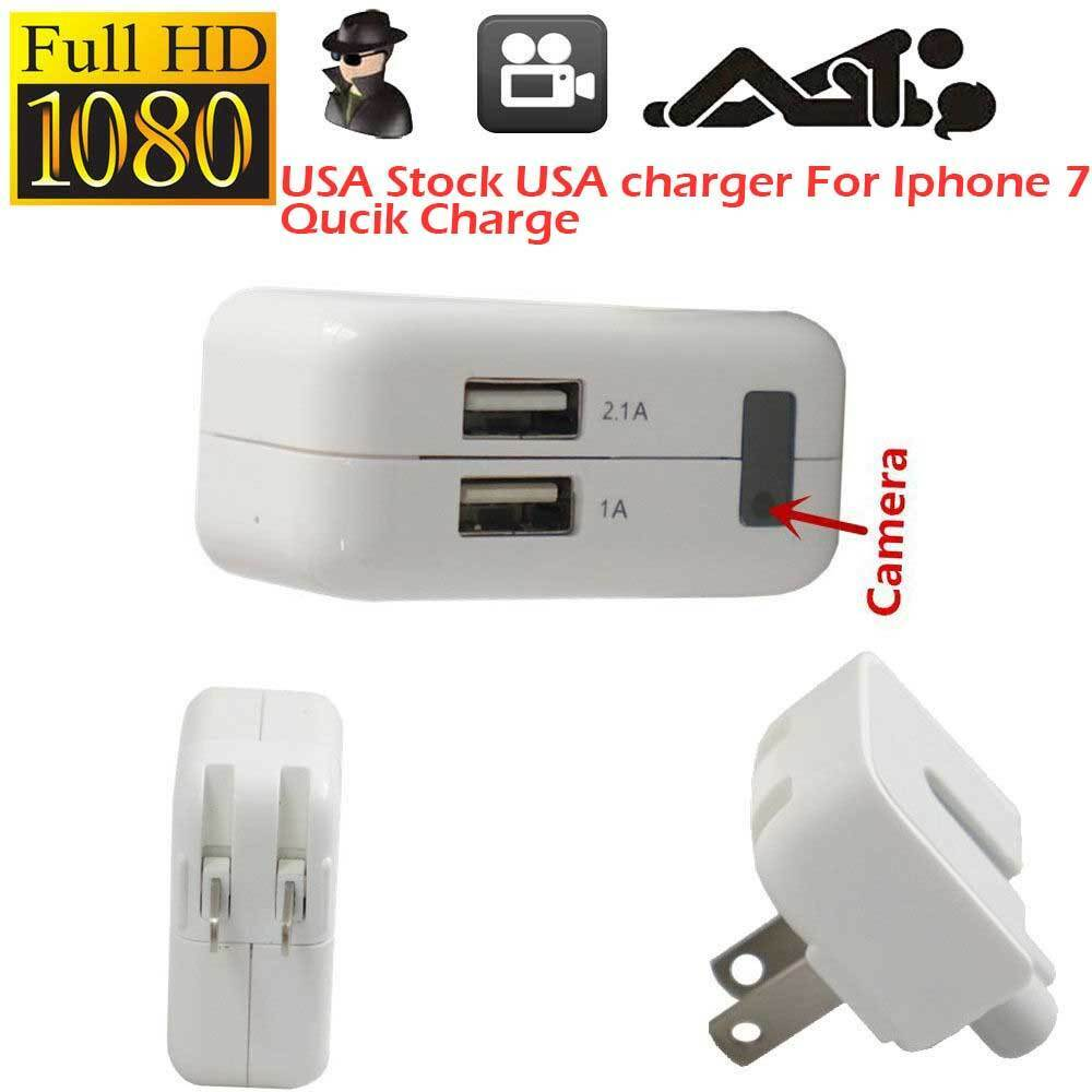 1080p Hd Spy Hidden Camera Ac Power Usb Charger Motion
