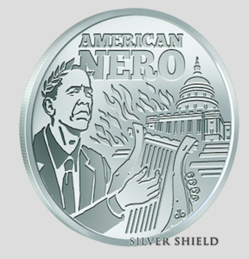 1 Oz 999 Fine Silver Shield Bu Seven Sins Of Obama