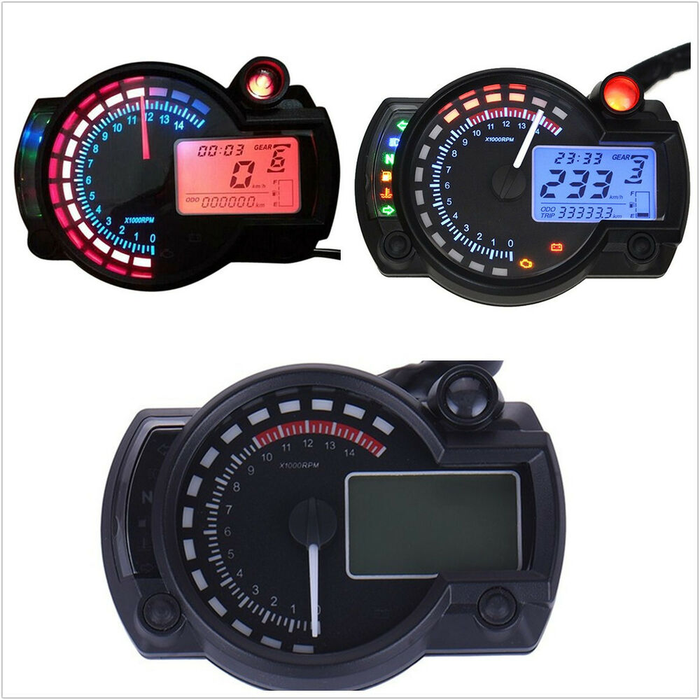 15000rpm Motorcycle Atv Dual Color Backlight Lcd Digital